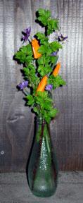 ninebark with california poppies