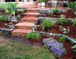 Mortared Arizona Flagstone Steps