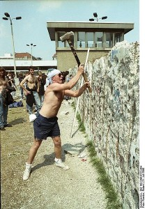 Berlin Wall Demolition, Image from the German Federal Archive via Wikimedia
