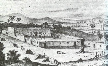 18th Century Drawing of the Mission