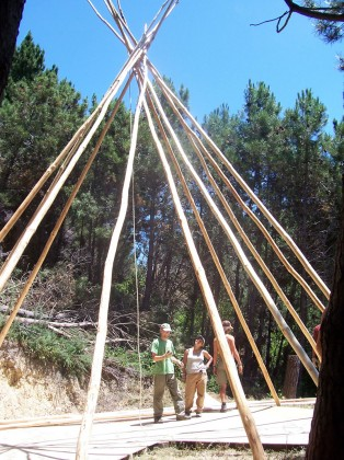 Tepee Under Construction